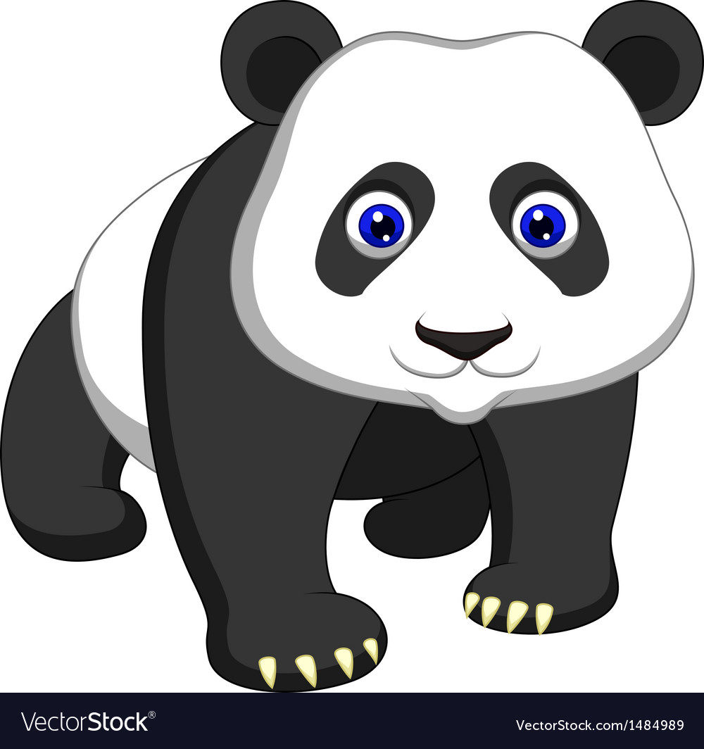 Cute panda cartoon vector | Price: 1 Credit (USD $1)