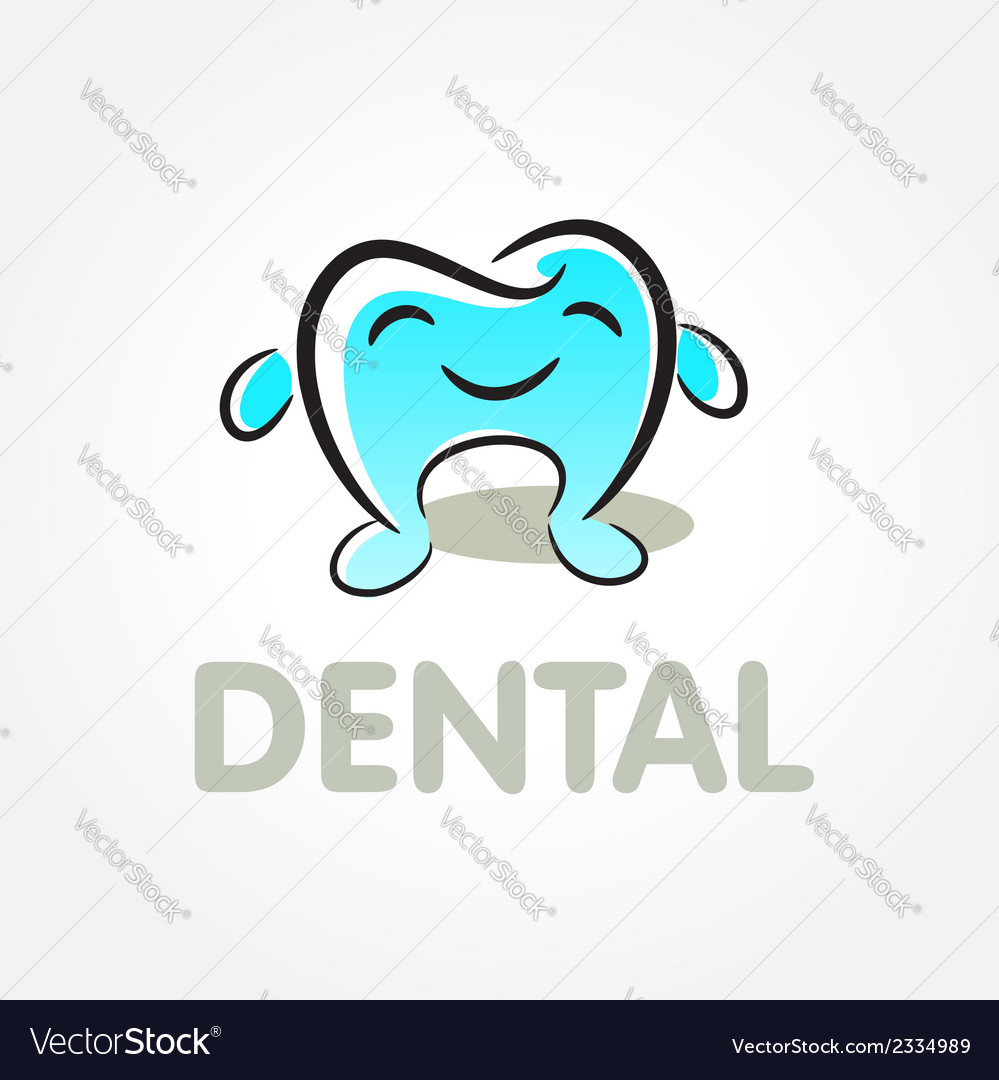 Dental tooth smile symbol emblem sign vector | Price: 1 Credit (USD $1)