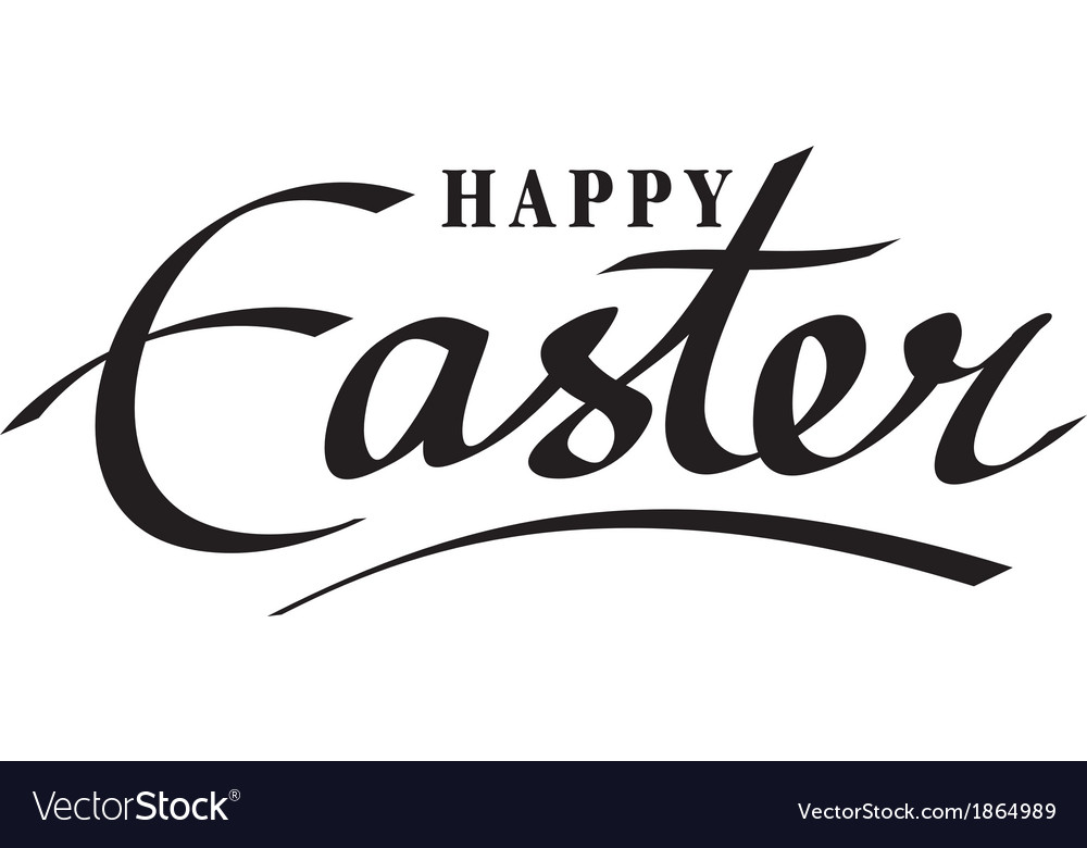 Happy easter hand lettering hand calligraphy vector | Price: 1 Credit (USD $1)