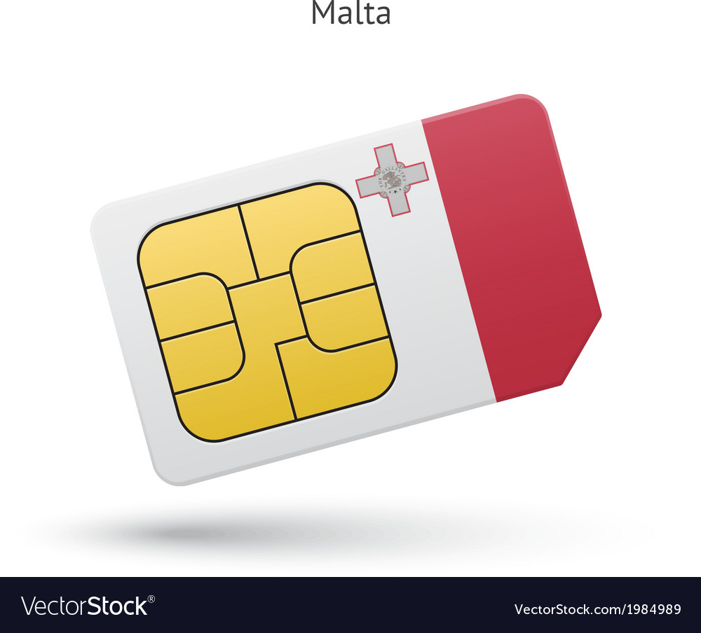Malta mobile phone sim card with flag vector | Price: 1 Credit (USD $1)