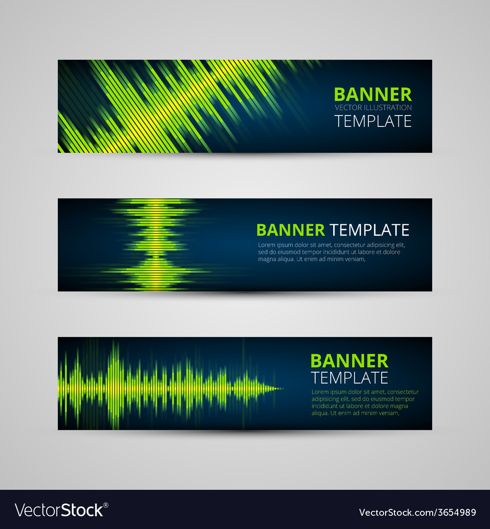 Music banners set vector | Price: 1 Credit (USD $1)