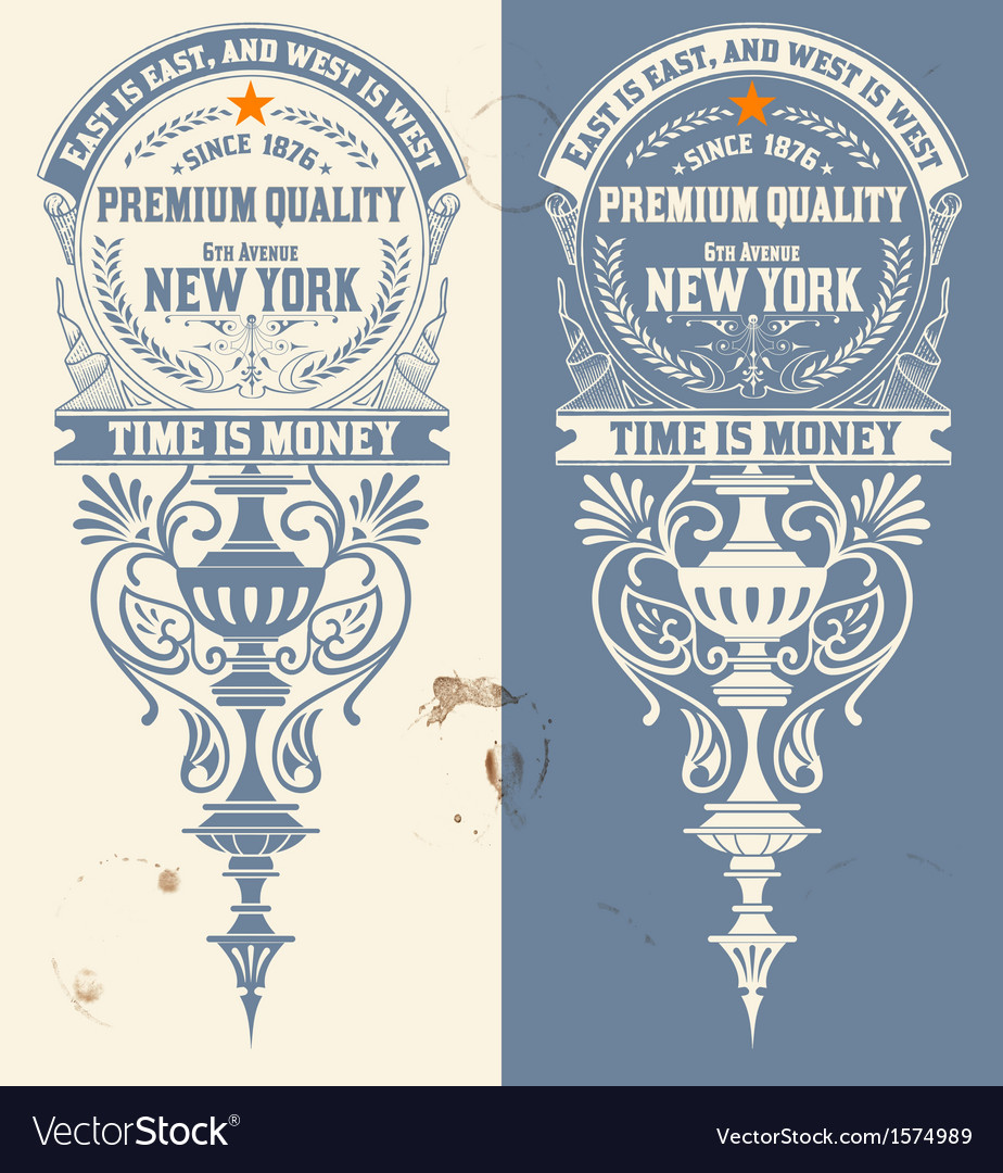 Premium quality banner baroque ornaments vector | Price: 1 Credit (USD $1)