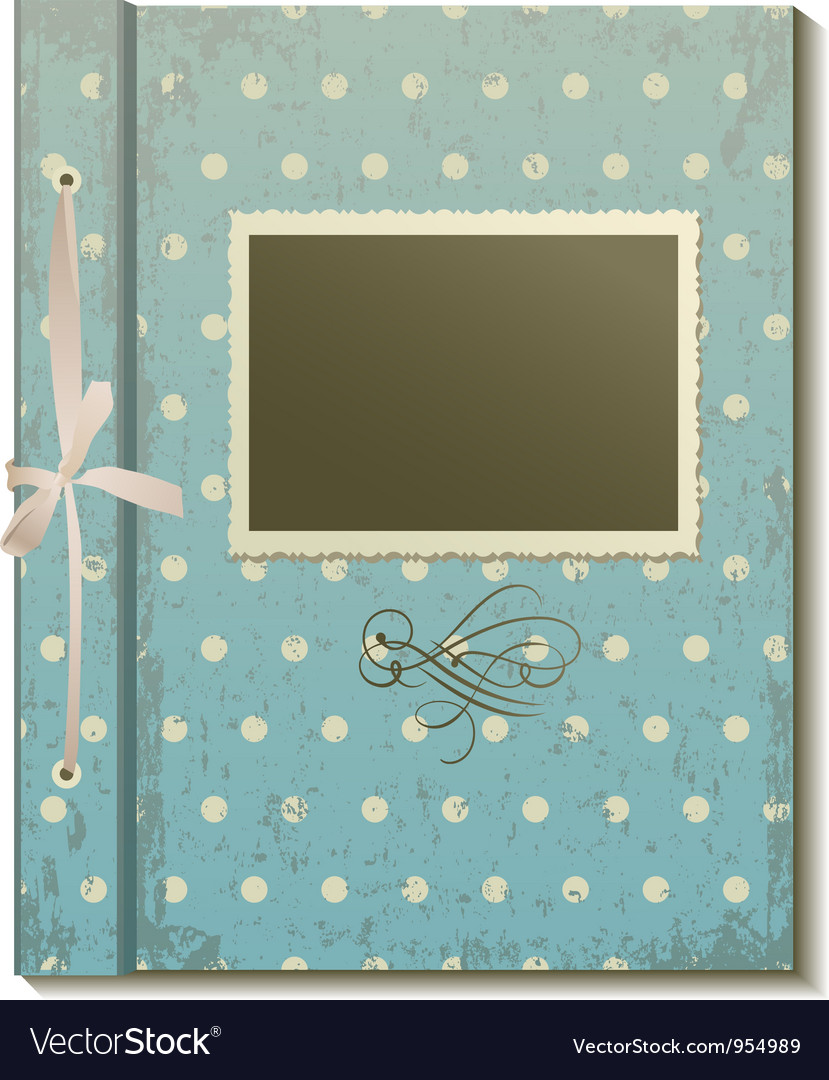 Retro photo album vector | Price: 1 Credit (USD $1)