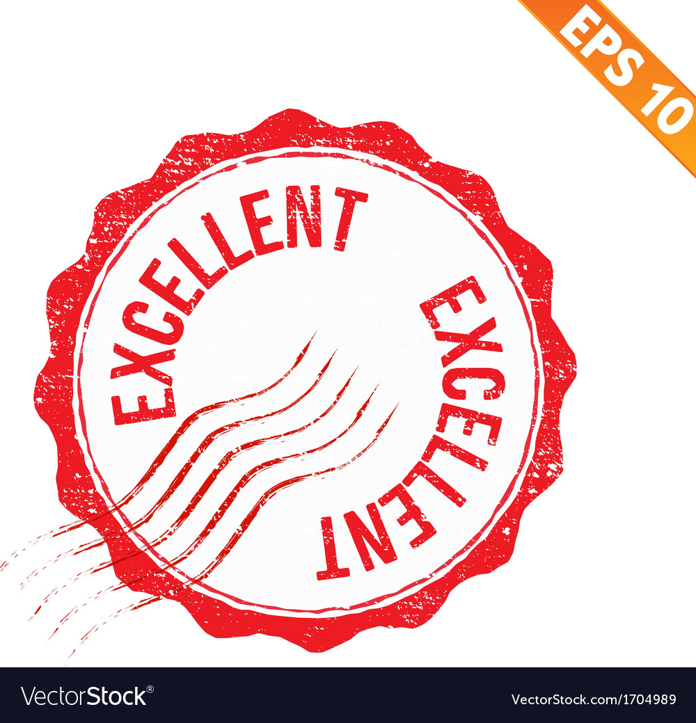 Rubber stamp excellent - - eps10 vector | Price: 1 Credit (USD $1)