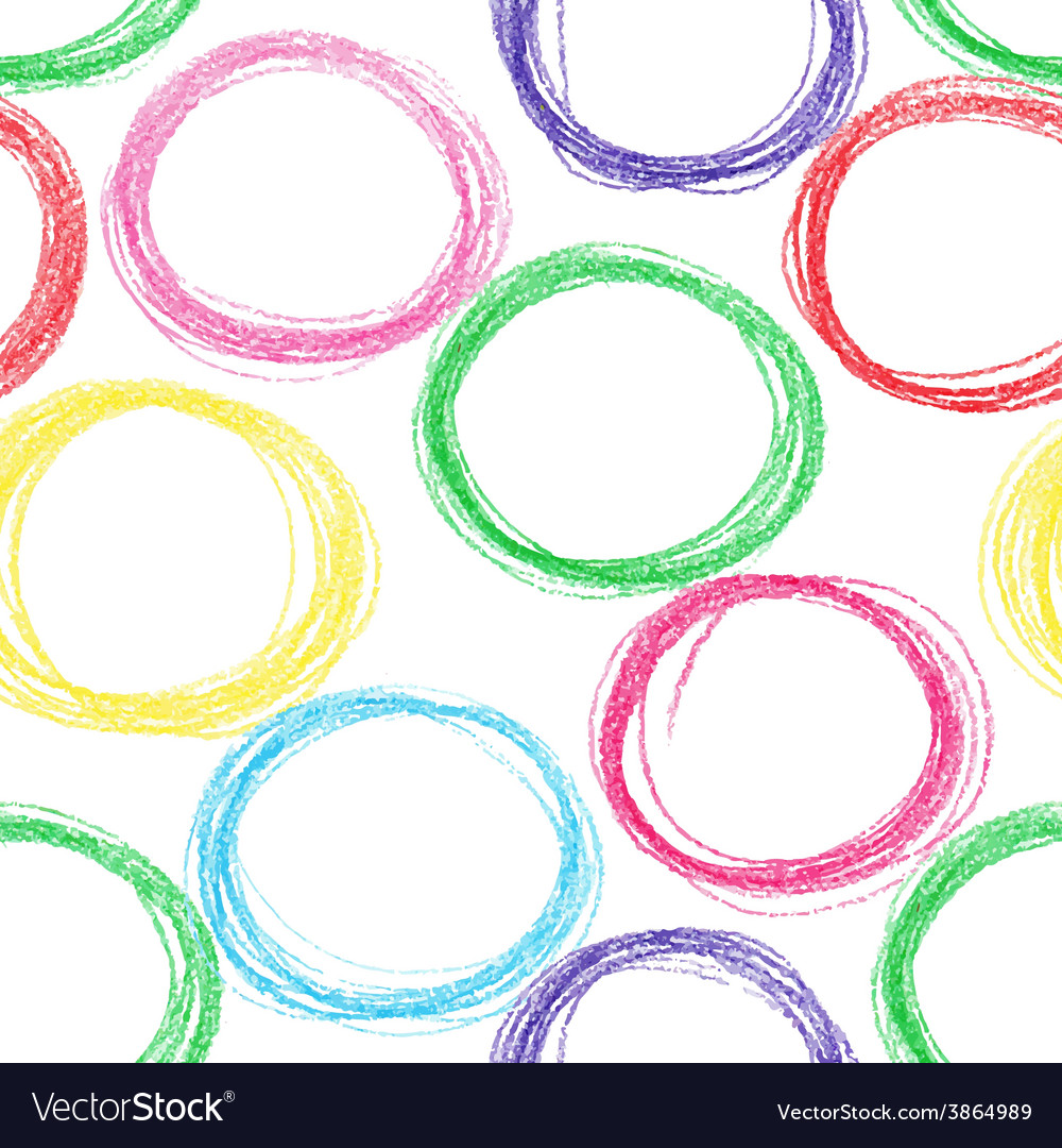 Seamless pattern background with colored pencil vector | Price: 1 Credit (USD $1)