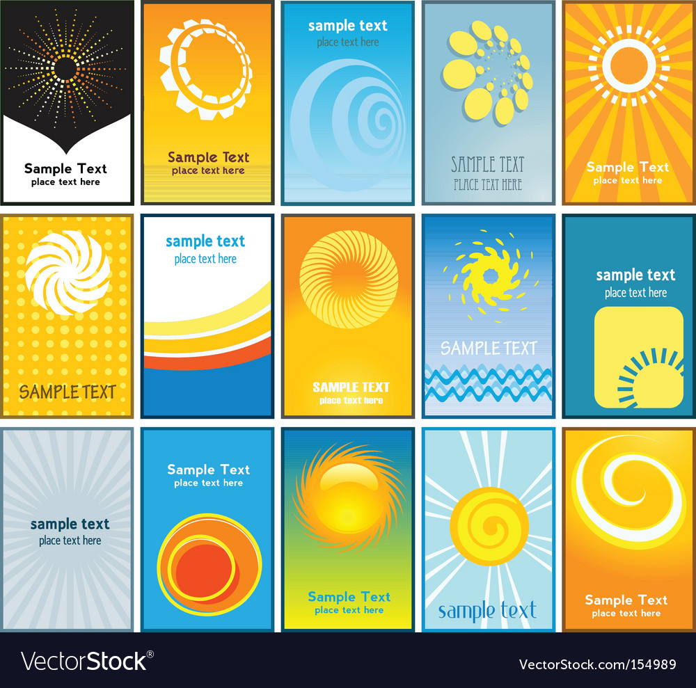 Summer themed business cards vector | Price: 1 Credit (USD $1)