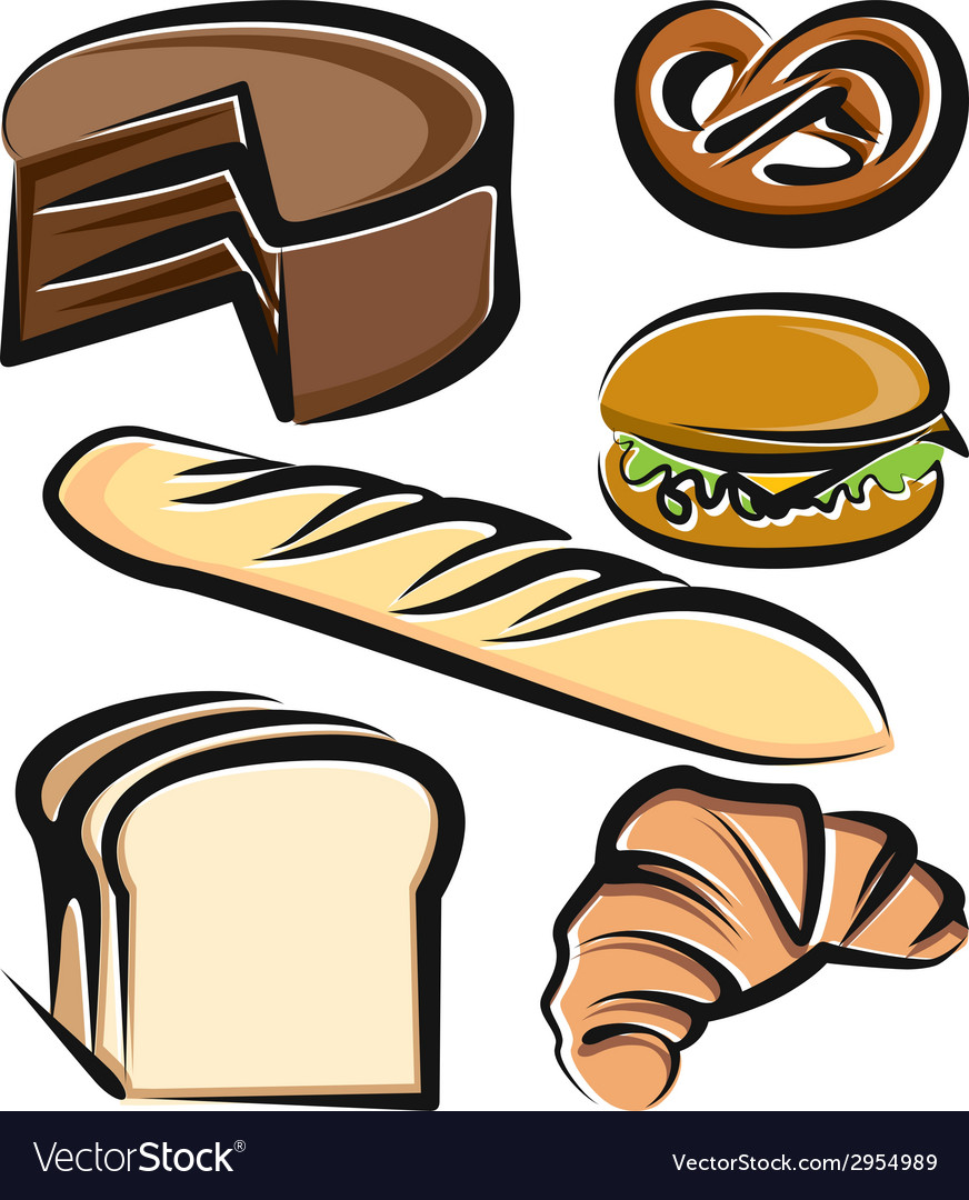 With a set of baking items vector | Price: 1 Credit (USD $1)