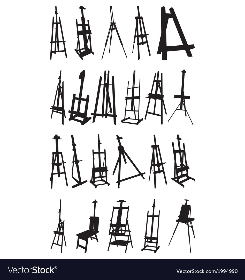 Artist easels vector | Price: 1 Credit (USD $1)