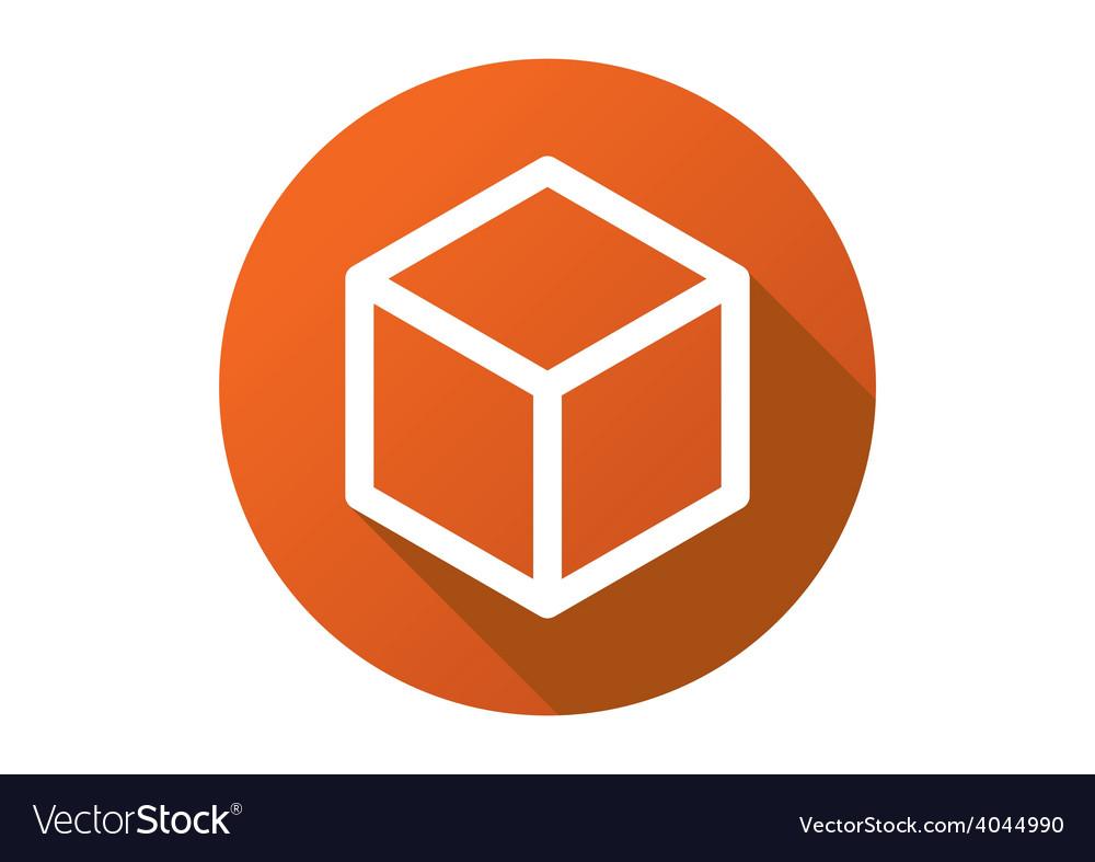 Box cube line flat logo icon vector | Price: 1 Credit (USD $1)