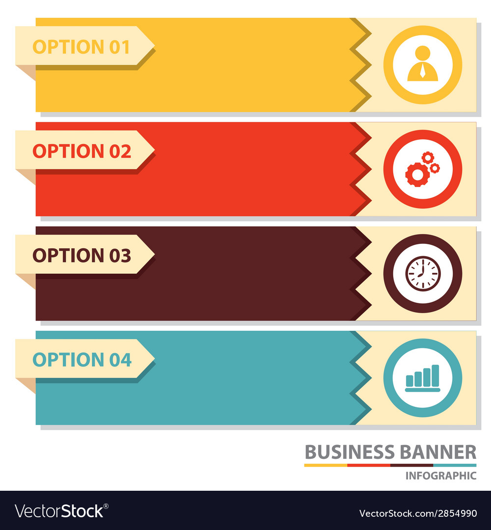 Business banner infographic vector | Price: 1 Credit (USD $1)