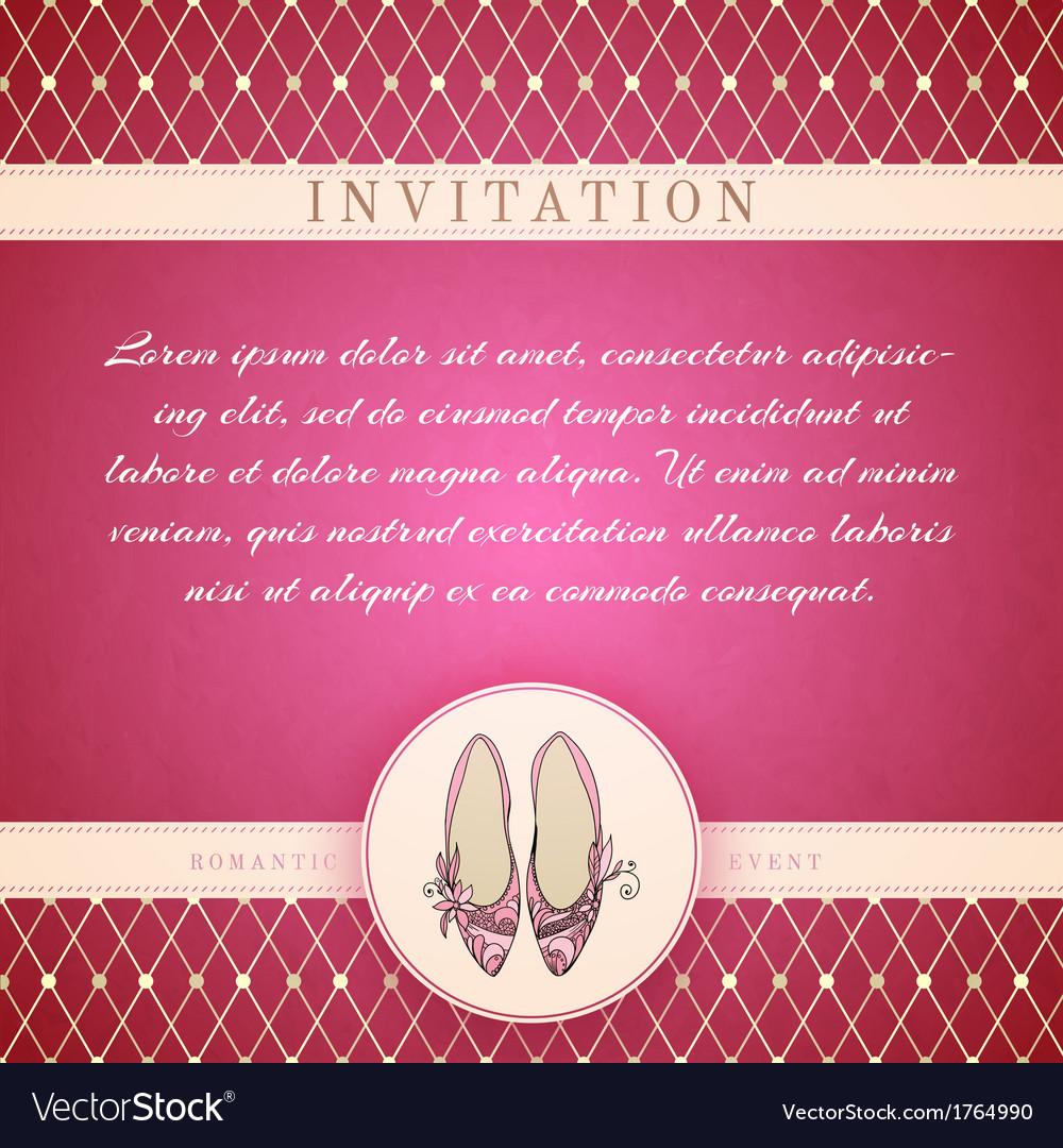Cinderella princess invitation template vector | Price: 1 Credit (USD $1)