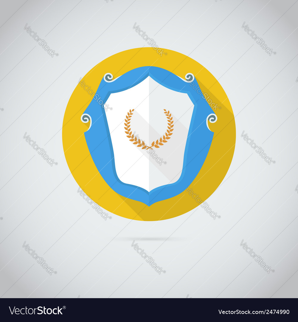 Flat icon with laurel wreath vector | Price: 1 Credit (USD $1)