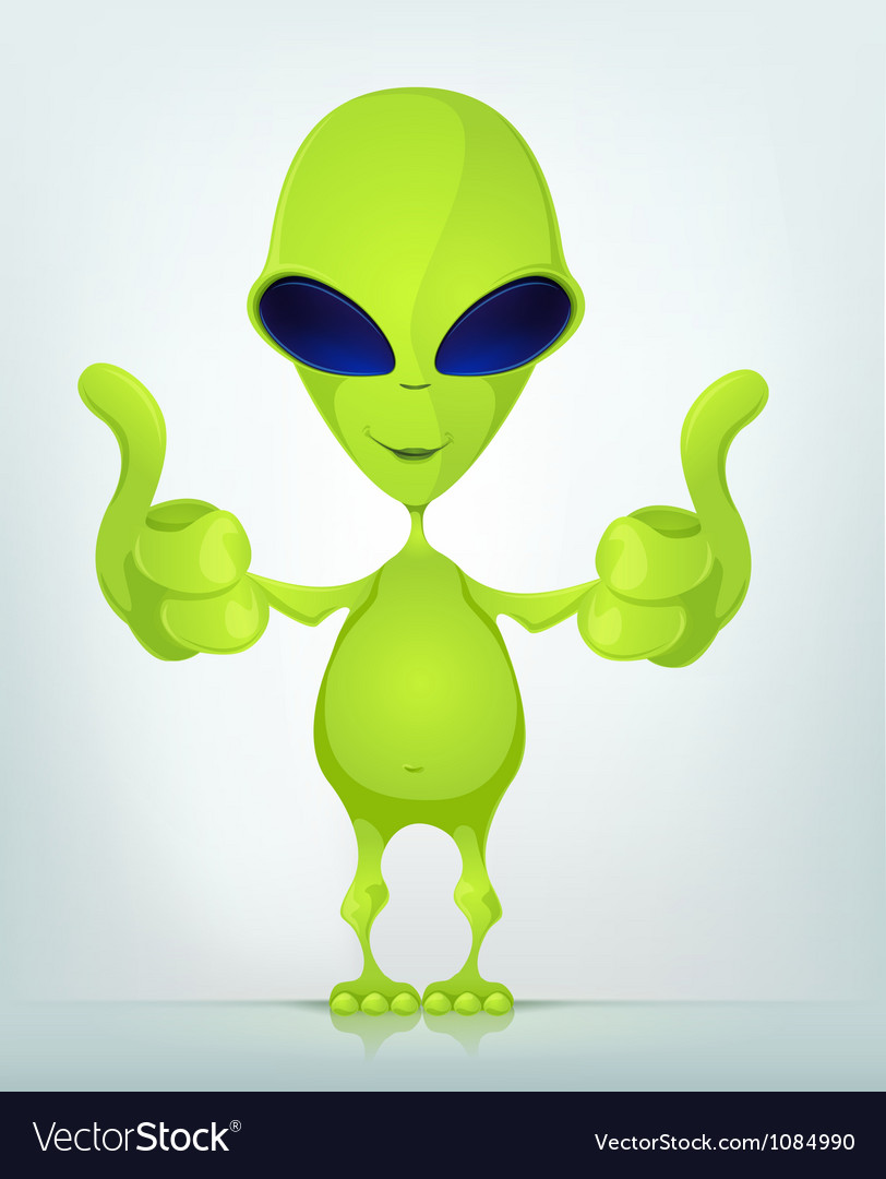 Funny alien vector | Price: 1 Credit (USD $1)