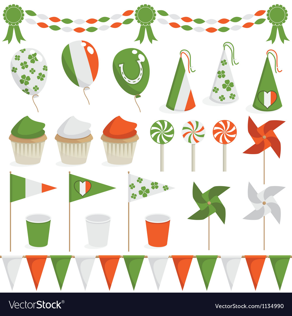 Irish decorations vector | Price: 3 Credit (USD $3)