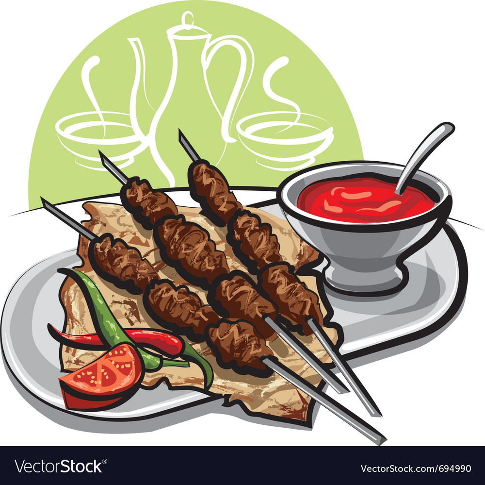 Kebab vector | Price: 3 Credit (USD $3)