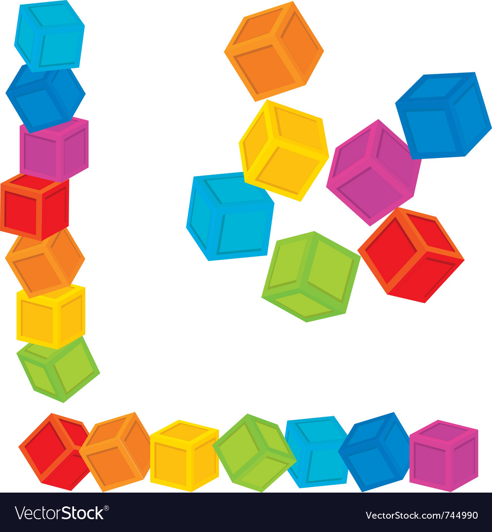 Kid cubes vector | Price: 1 Credit (USD $1)