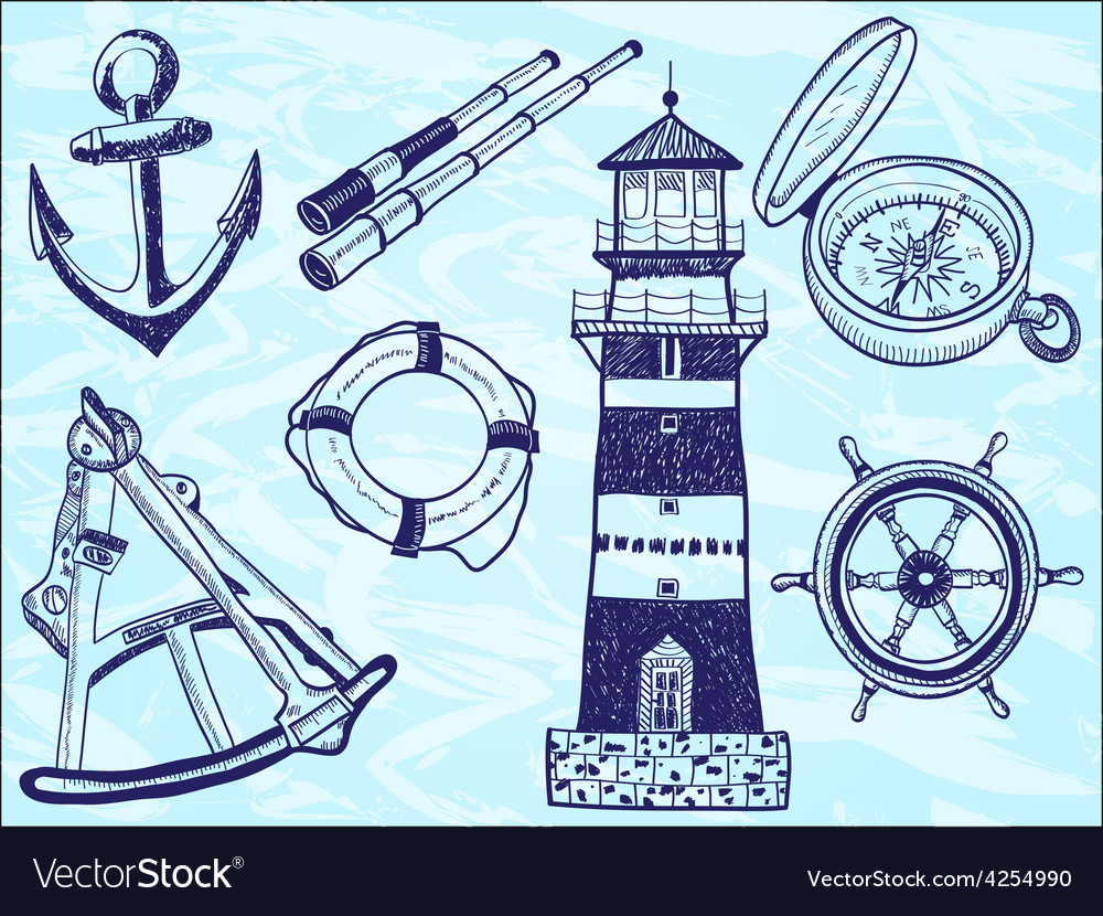 Nautical collection - hand-drawn vector | Price: 1 Credit (USD $1)
