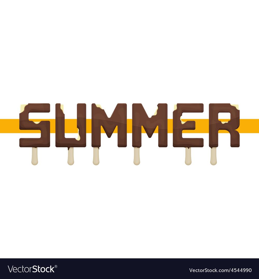 Summer ice cream vector | Price: 1 Credit (USD $1)