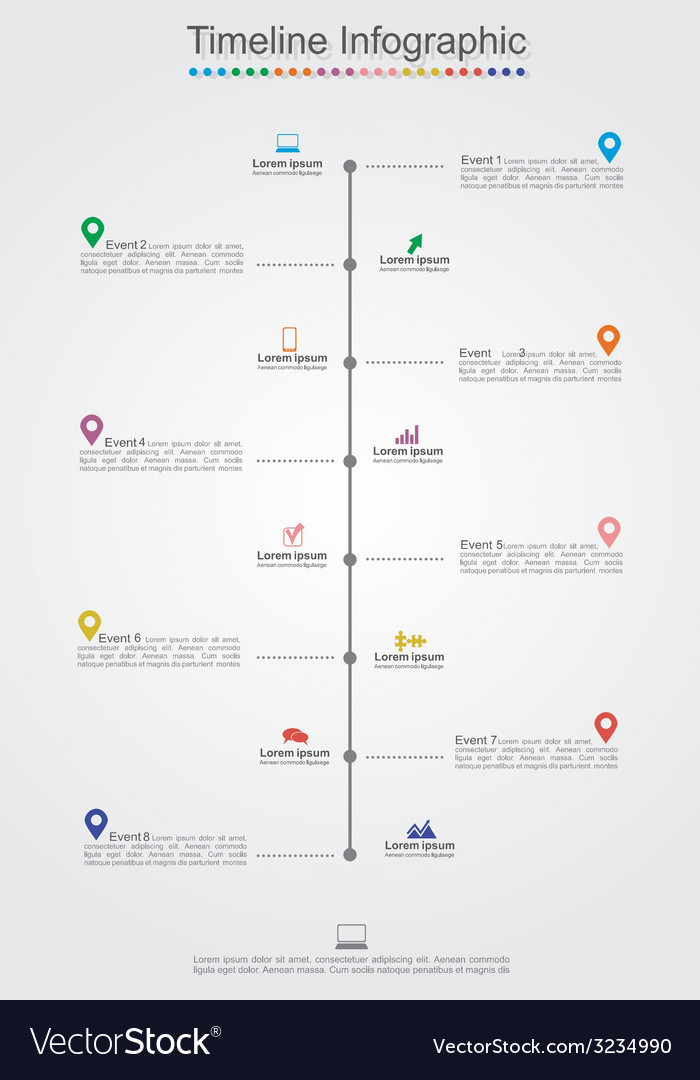 Timeline infographic template with icons vector   Price: 1 Credit (USD $1)