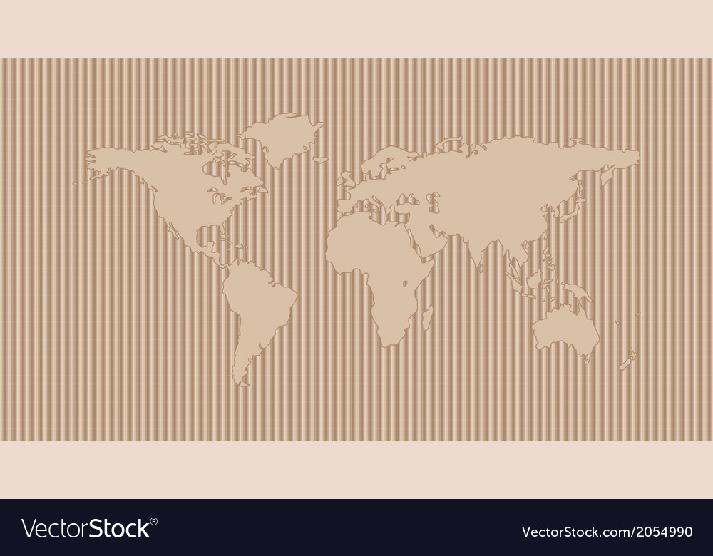 World map on corrugated background vector | Price: 1 Credit (USD $1)