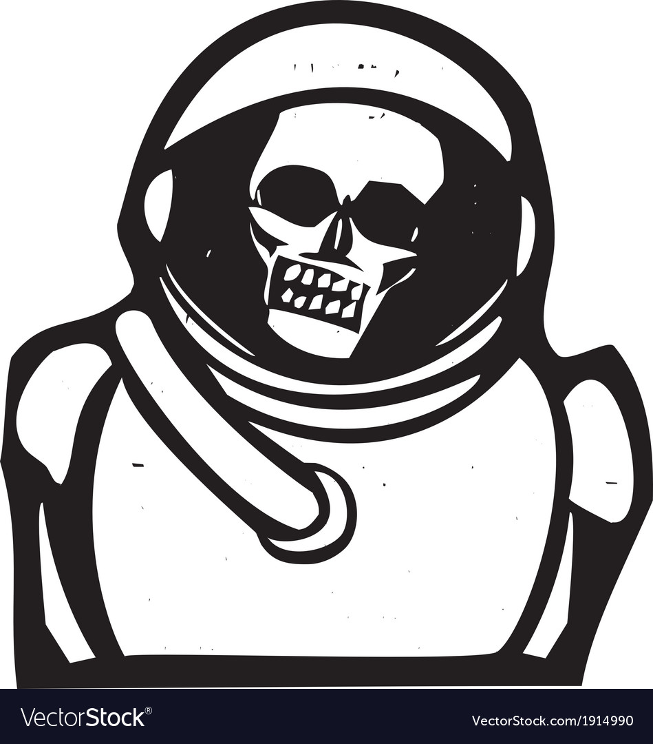 Zombie astronaut vector | Price: 1 Credit (USD $1)