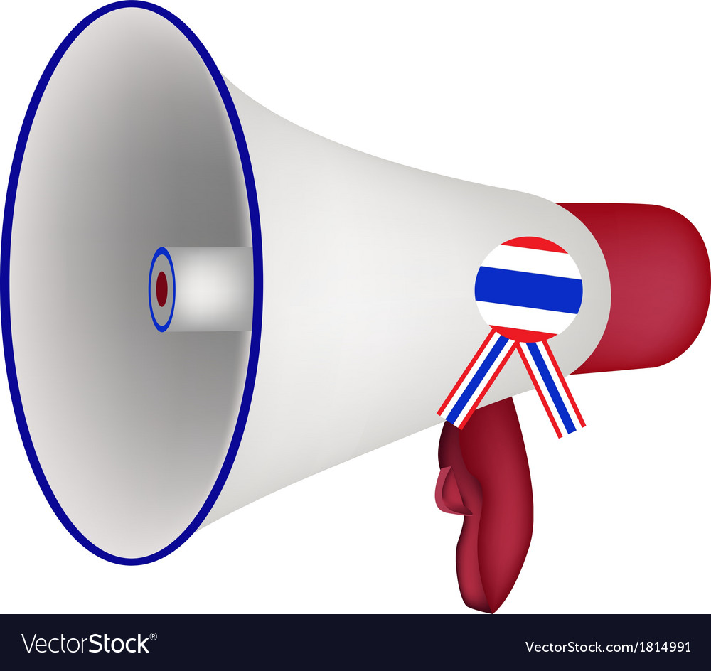 A loudspeaker or megaphone on white background vector | Price: 1 Credit (USD $1)