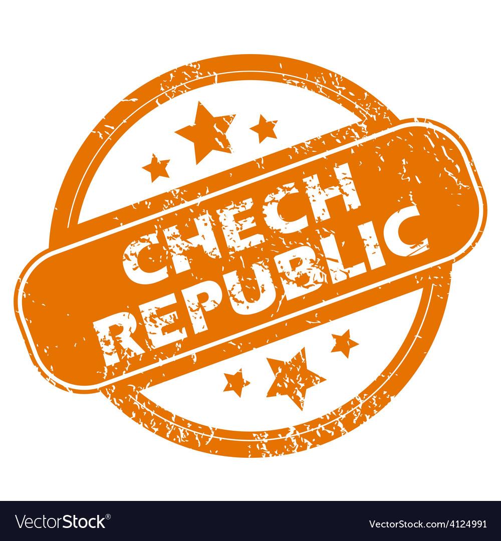 Chech republic grunge icon vector | Price: 1 Credit (USD $1)