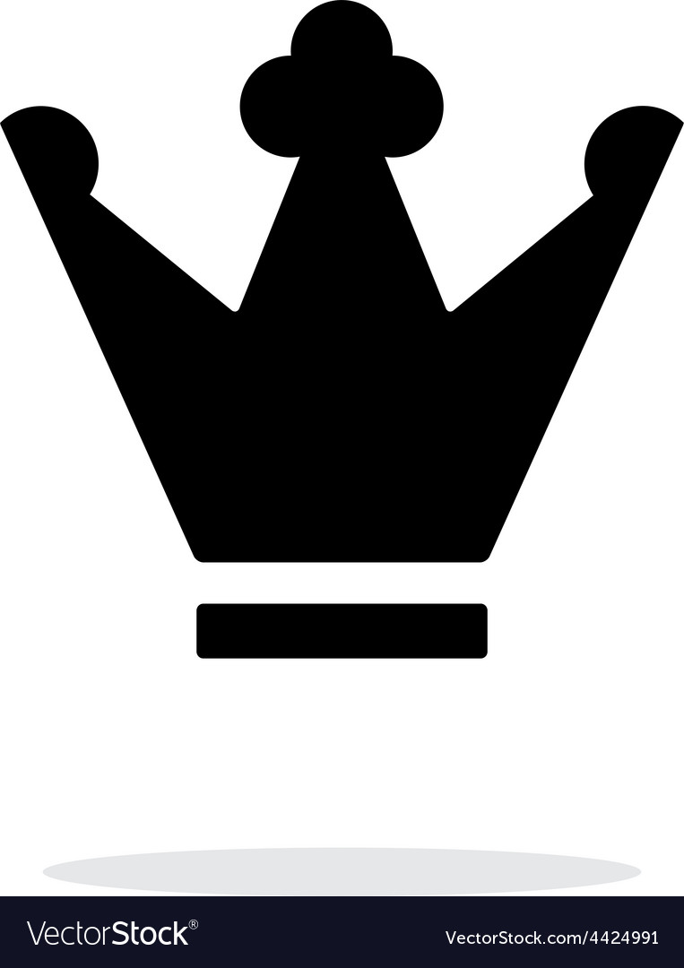 Crown icon on white background vector | Price: 1 Credit (USD $1)
