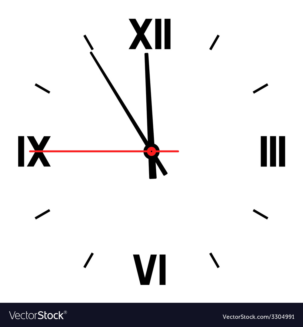 Dial of hours vector | Price: 1 Credit (USD $1)