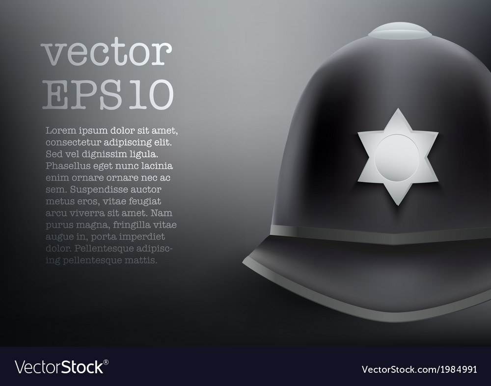 Helmet of british police background vector | Price: 1 Credit (USD $1)
