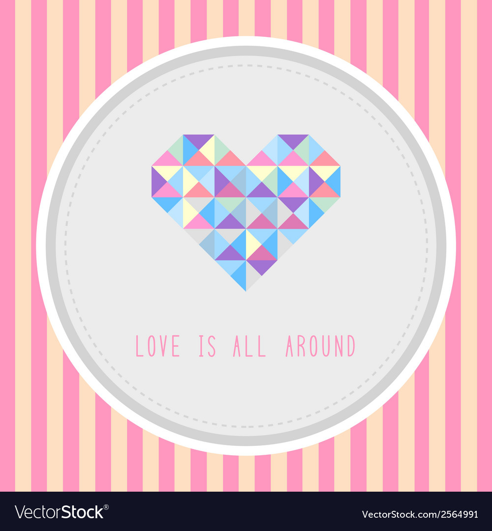 Love is all around1 vector | Price: 1 Credit (USD $1)