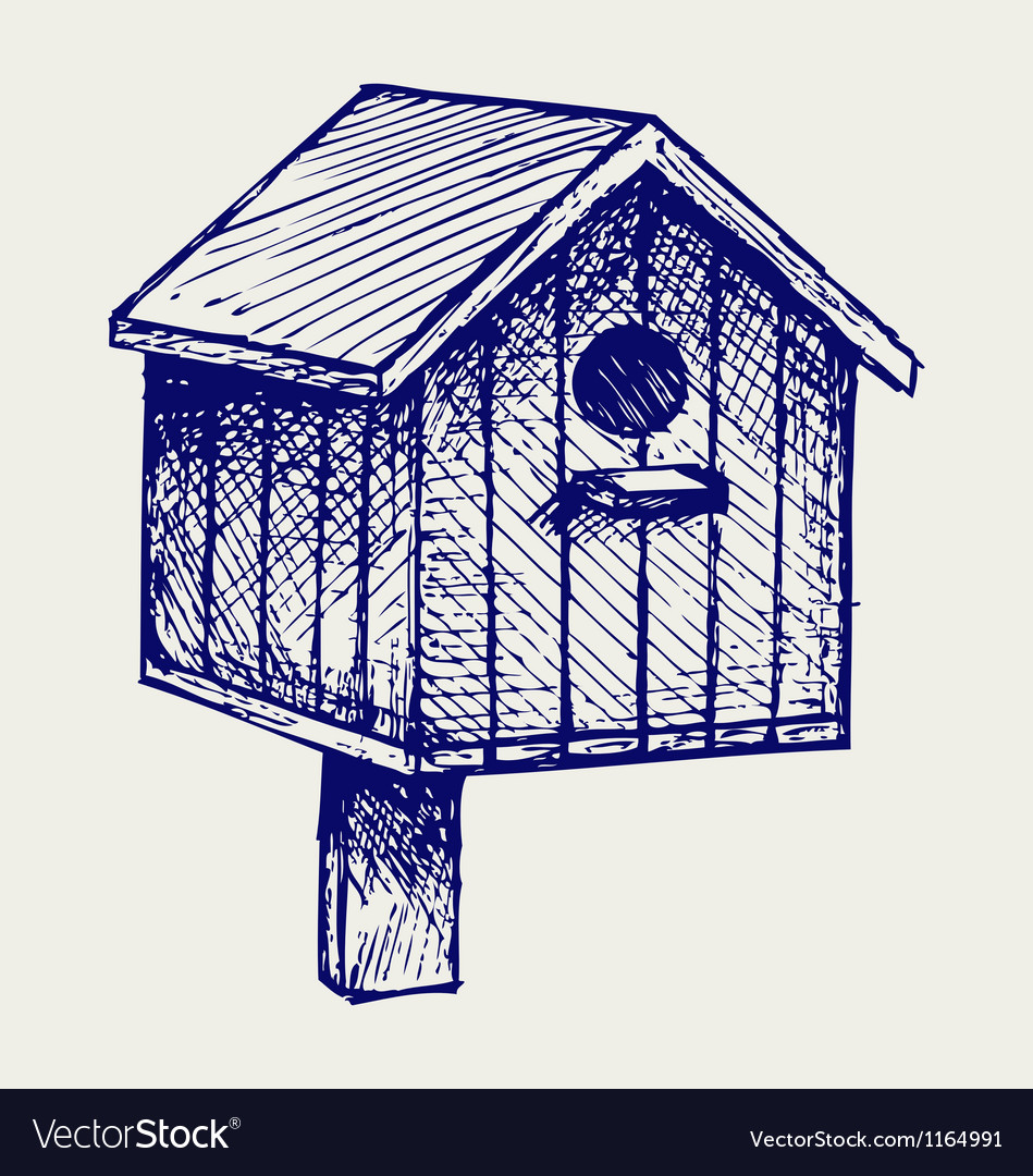 Nest box birdhouse vector | Price: 1 Credit (USD $1)