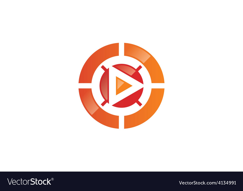 Play video target logo vector | Price: 1 Credit (USD $1)