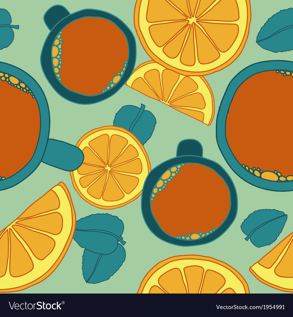 Seamless pattern with tea vector | Price: 1 Credit (USD $1)