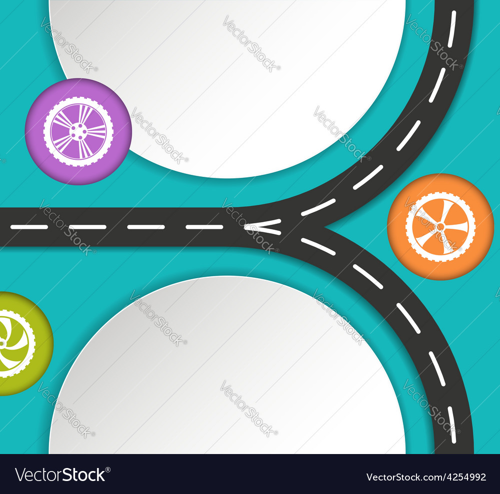 Abstract road and wheels background vector | Price: 1 Credit (USD $1)