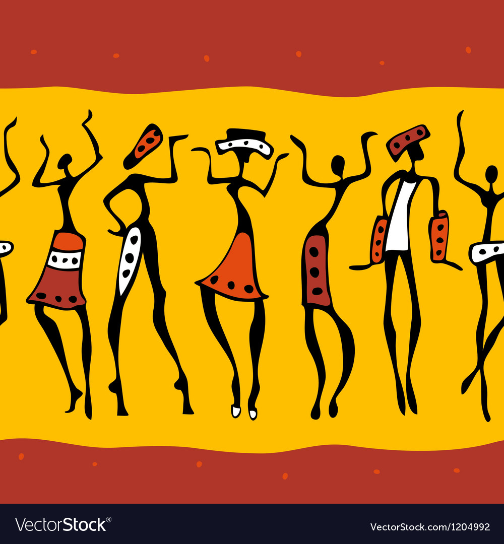 African dancers silhouette vector   Price: 1 Credit (USD $1)