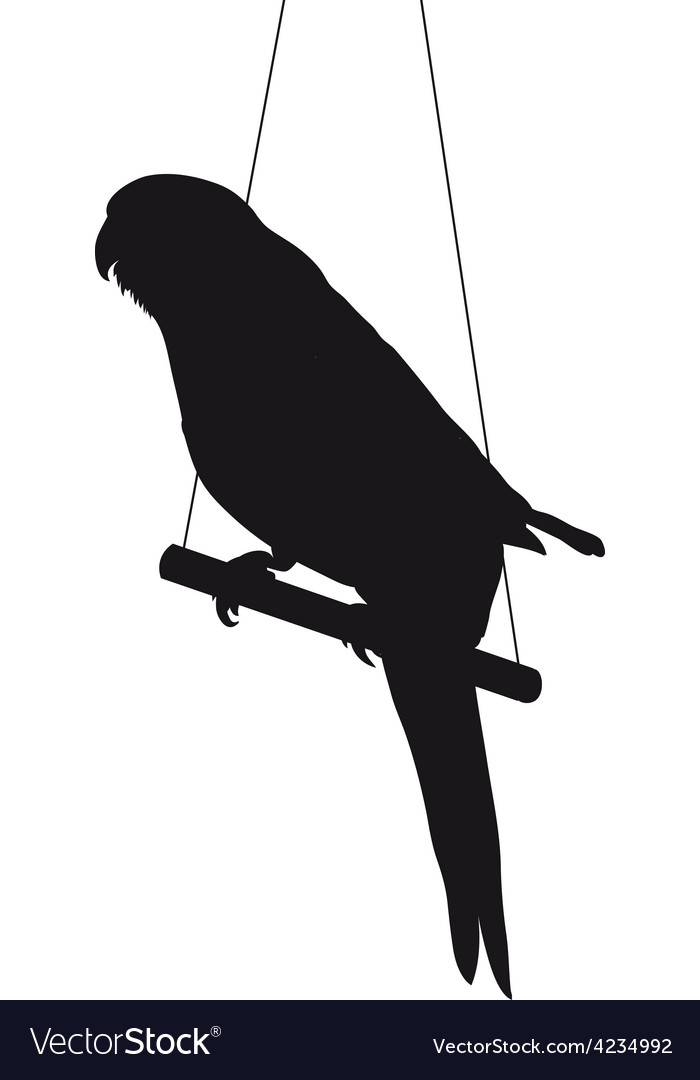 Bird silhouette isolated on white background vector | Price: 1 Credit (USD $1)