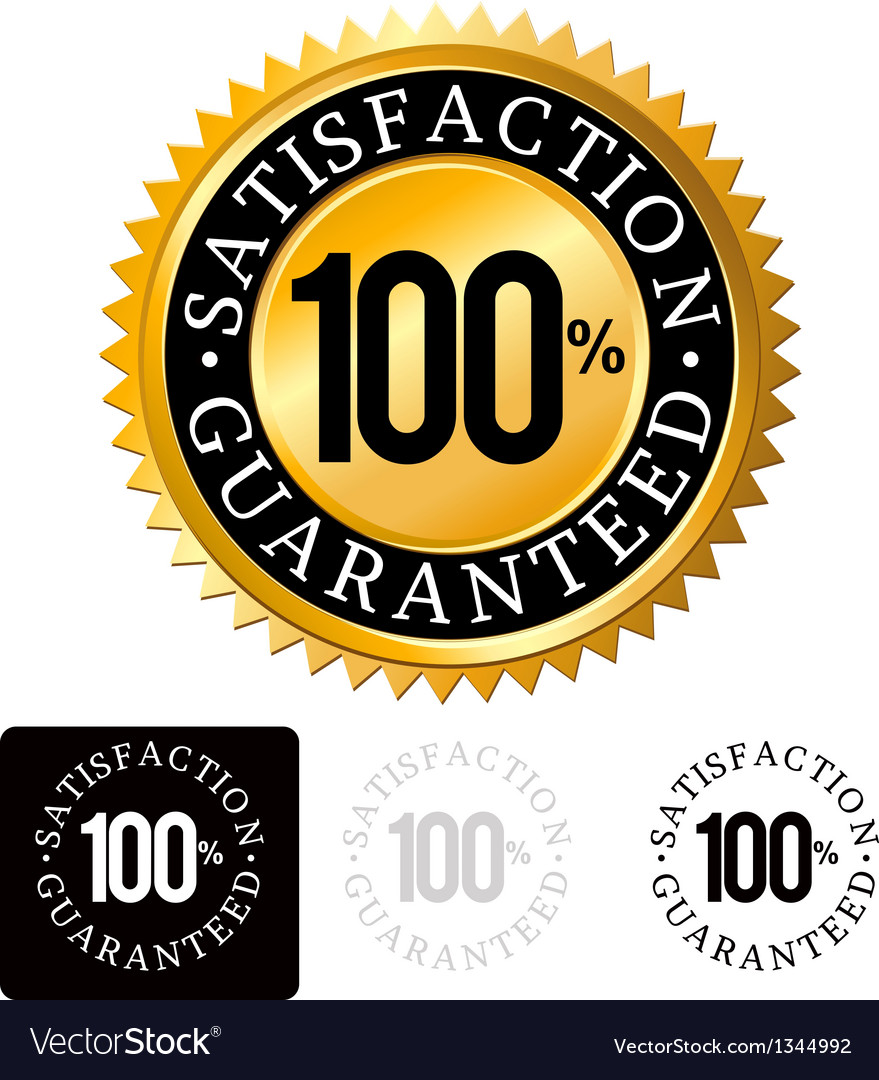 Gold satisfaction guaranteed seals set vector | Price: 1 Credit (USD $1)