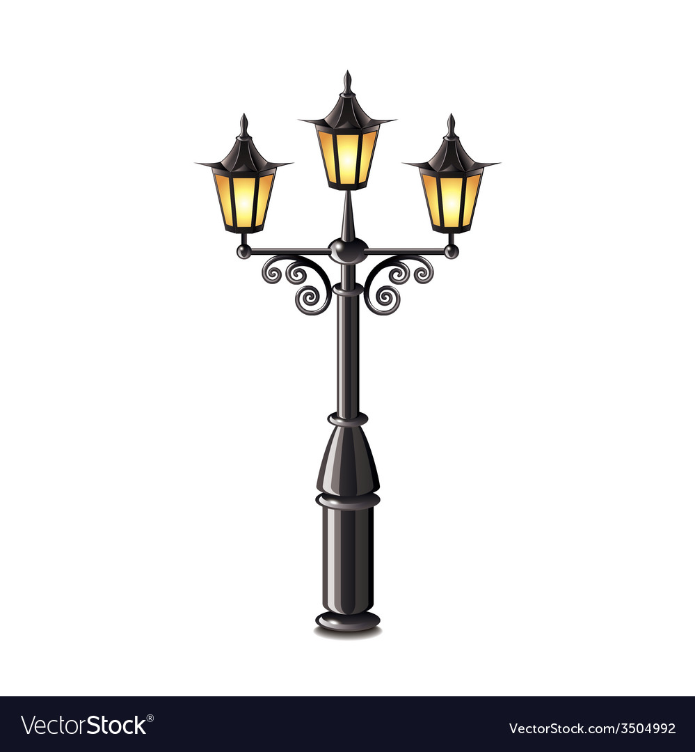 Street lantern isolated vector | Price: 1 Credit (USD $1)