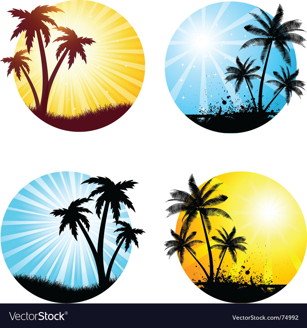 Summer scenes vector