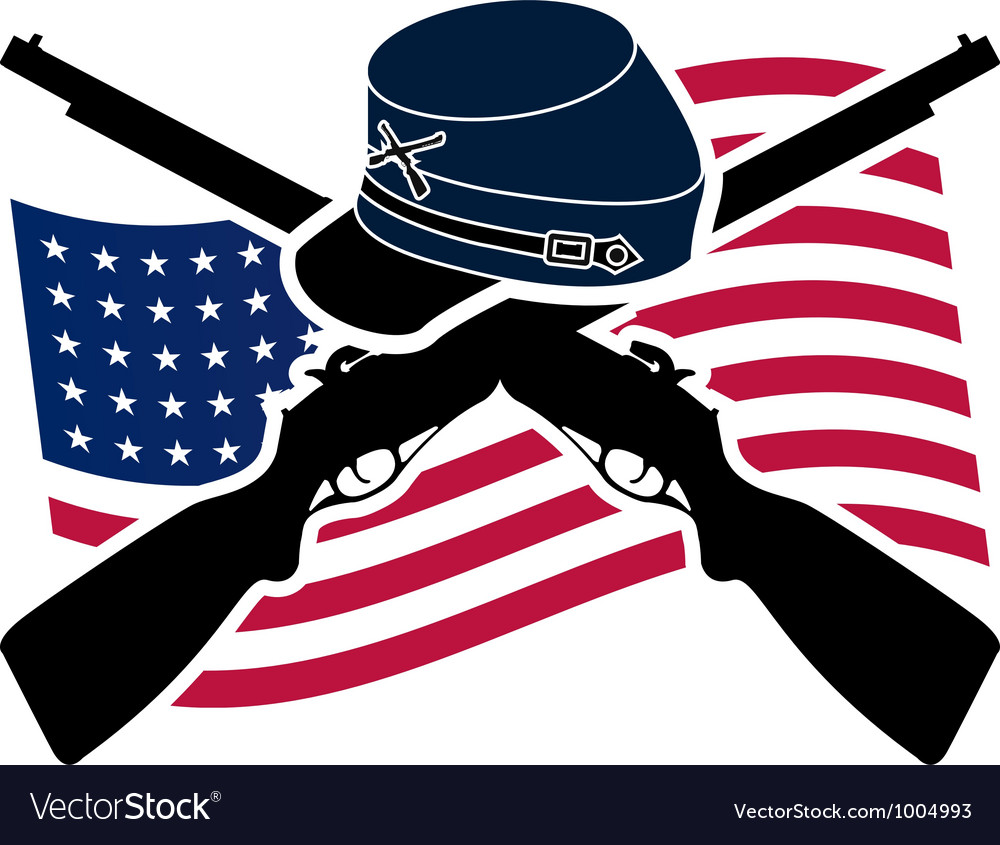 American civil war union vector | Price: 1 Credit (USD $1)