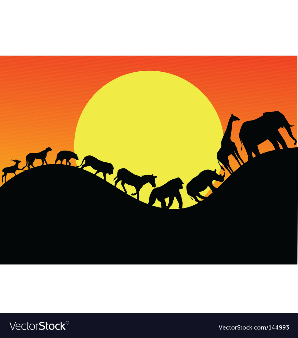 Animal silhouette vector | Price: 1 Credit (USD $1)