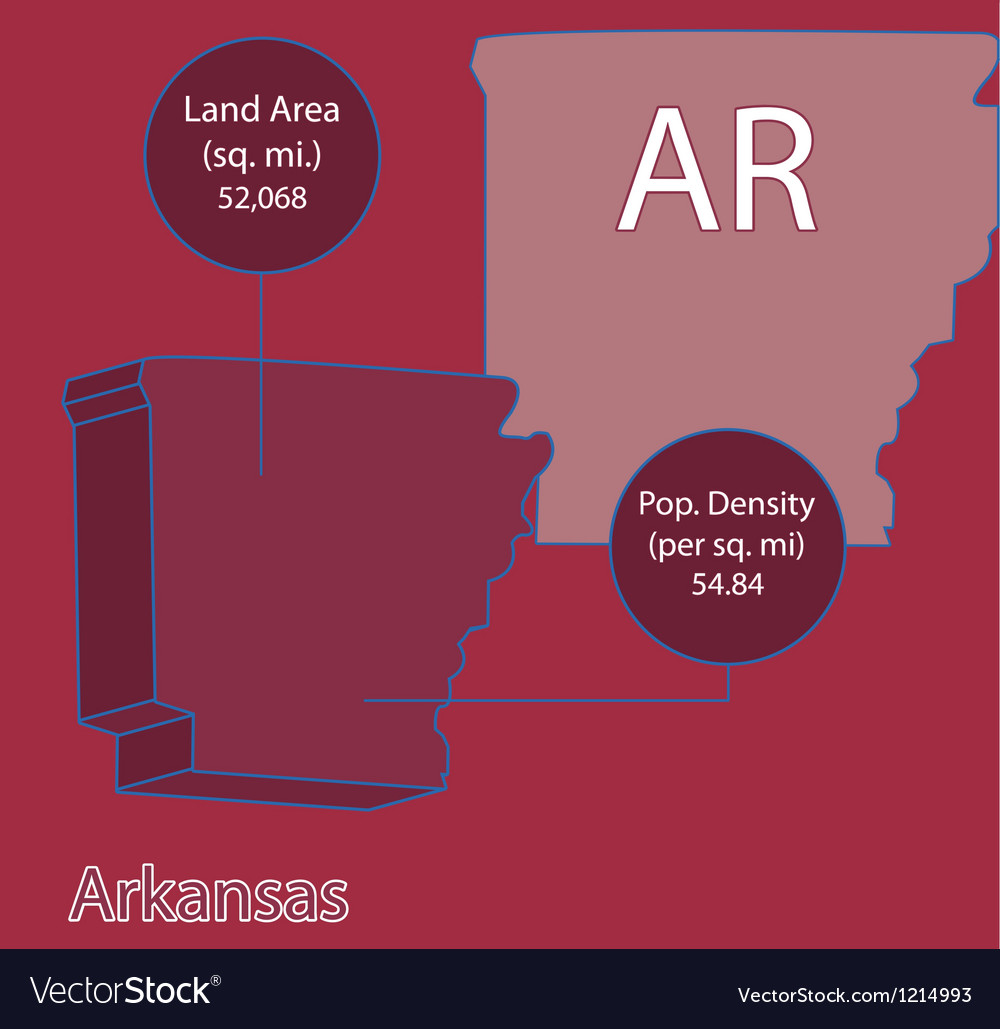 Arkansas 3d info graphic vector | Price: 1 Credit (USD $1)