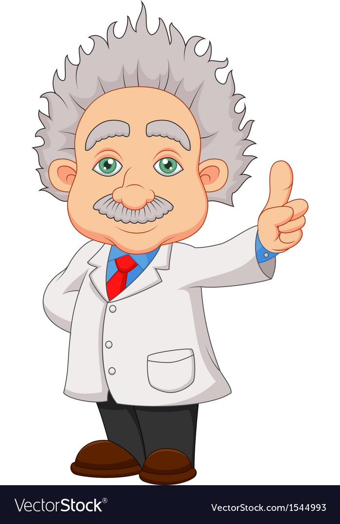 Cartoon professor thinkning vector | Price: 1 Credit (USD $1)