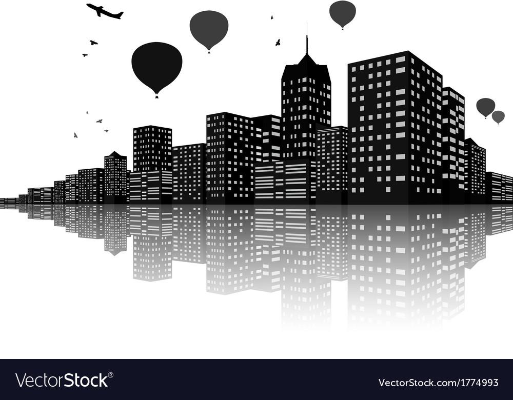 City skyline night scenes vector   Price: 1 Credit (USD $1)
