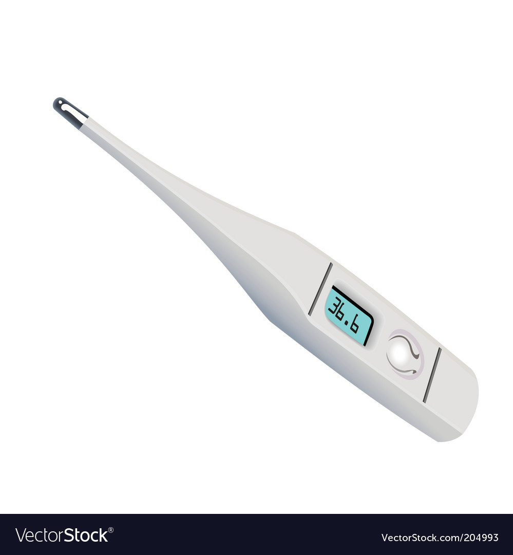 Electronic medical thermometer vector | Price: 1 Credit (USD $1)