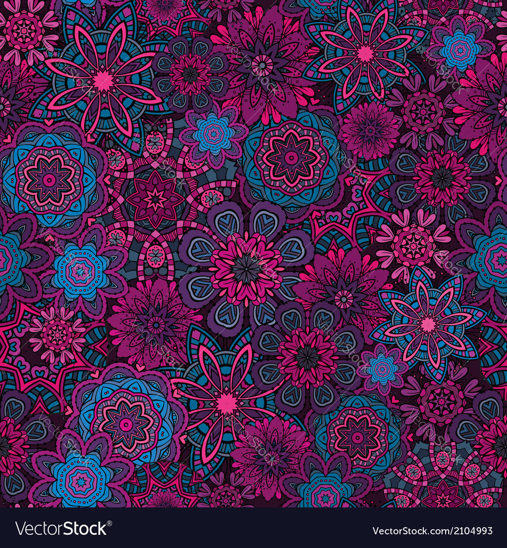Ornamental fantasy floral seamless pattern vector | Price: 1 Credit (USD $1)