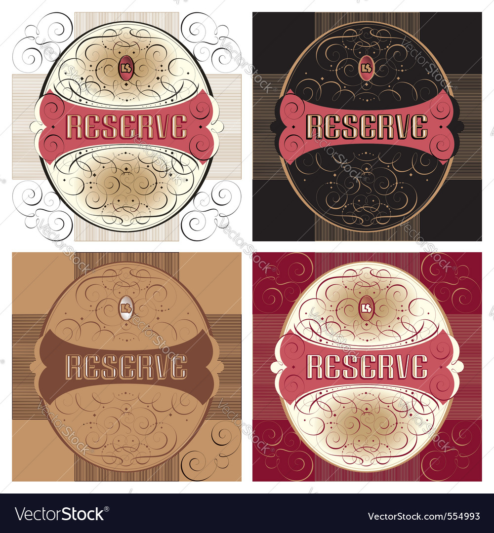 Ornate label design vector | Price: 3 Credit (USD $3)