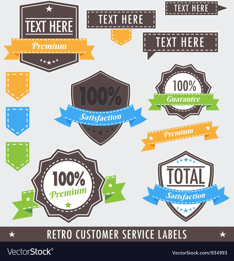 Retrocustomerlabels vector | Price: 1 Credit (USD $1)
