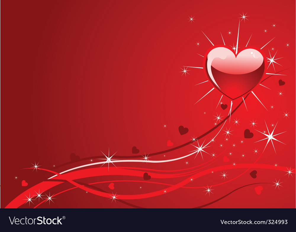 Sparkle red valentine background vector | Price: 1 Credit (USD $1)